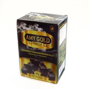 Кокосовый уголь AMY Gold 1 кг (72 куб)